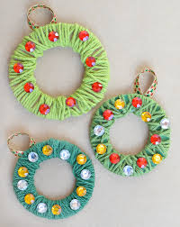 yarn wrapped christmas wreath ornaments what can we do with