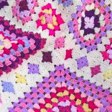 shabby chic granny square throw pattern woolnhook by leonie morgan