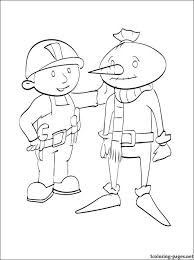 coloring spud scarecrow bob builder coloring pages