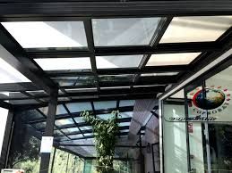 vitrage toiture veranda veranda avec toiture en verre ouvrante rétractable motorisé à ste