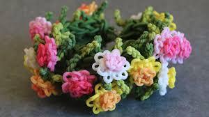 bracelet looms youtube images Rainbow loom chrysanthemum bracelet tutorial jpg