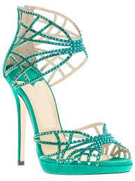 ankle strap platform high heel rhinestone sandals