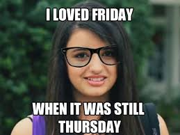 Rebecca Black Meme - image 106863 rebecca black friday know your meme