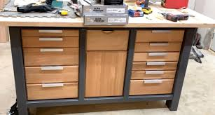 how to clean drawer pulls the no expense spared work bench is nearly complete just