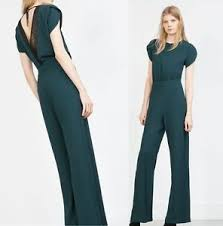zara jumpsuit bnwt genuine zara ss 2016 green jumpsuit ref 2013