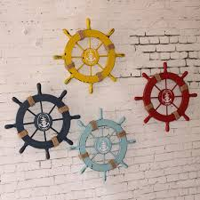 wooden boat wall new nautical wooden boat ship steering wheel home wall