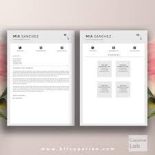 Teachers Resume Format Creative Resume Template Cover Letter Word Modern Simple
