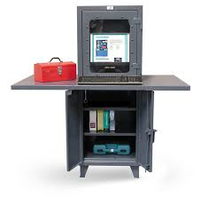 Computer Desk Work Station Strong Hold Products Industrial Computer Workstation With Welded