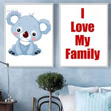personality name cartoon koala large art print poster kawaii wall