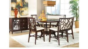 counter height dining room table park ebony 5 pc counter height dining room bench stool