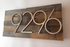 etsy wood rustic address plaque made from reclaimed wood rustic