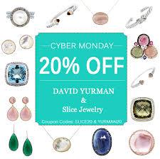 cyber monday jewelry sale 20 david yurman and gemstone slice
