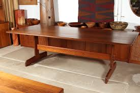 furniture winsome rustic oak trestle dining table emerson