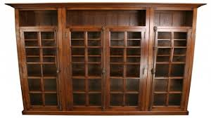 Natural Wood Bookcases Marvelous Appealing Wood Bookcase With Doors Solid Wood