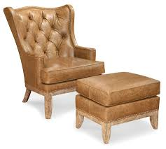 Leather Armchair With Ottoman Fairfield Chairs Wing Chair And Ottoman Combination Wayside