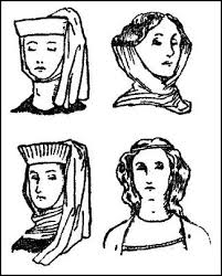 pictures of early medieval womens hair u0026 headdresses 1066 1327