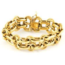 double gold bracelet images Vintage italian double link gold bracelet daisy exclusive jpg
