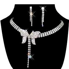 necklace pearl ebay images Jewelry set bridal wedding butterfly shape pearls rhinestone jpg