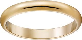 gold band crb4002300 1895 wedding band yellow gold cartier