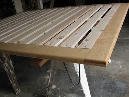 bedroom platform headboard simple wood bed frame build your own