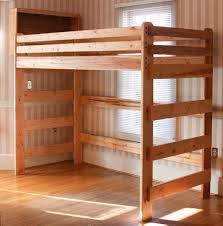 Build Cheap Bunk Beds by Extra Tall Loft Bed A Customer Built Using Our Plans Loft Beds