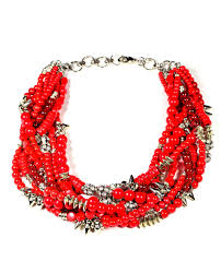 beaded red necklace images Red beaded multistrand necklace caterina wills jewellery jpg