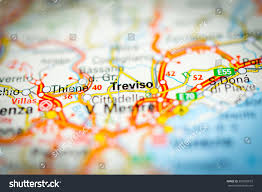 Italy On Map Macro View Treviso Italy On Map Stock Photo 350092673 Shutterstock
