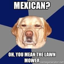 Mexican Racist Memes - mexican oh you mean the lawn mower racist dawg meme generator