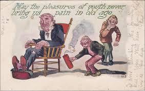 Old Man In Rocking Chair Playle U0027s As Mischievous Boys Putting A Firecracker Under Rocking