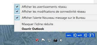 afficher outlook sur le bureau outlook 2013 notification microsoft community