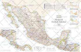 Mexico Wall Map National Geographic Historical Maps Americas Wall Maps Maps