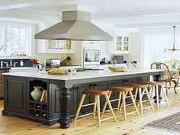 Black Kitchen Island Table Large Kitchen Island With Seating Silver Refrigerator Gray Painted