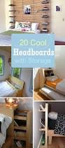 diy headboard with storage ideas and king size bed bedroom picture