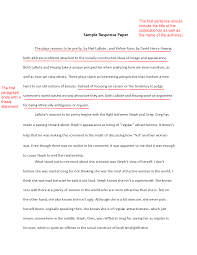 sample of an essay writing how to write a response paper
