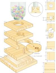 Free Wood Crafts Plans by Gumball Machine U2013 Canadian Home Workshop It Gives Me Ideas On How