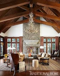 traditional home interior design sophisticated family cabin in the woods traditional home