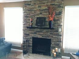 how to install stacked stone fireplace fireplace ideas