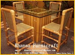 Bamboo Dining Room Chairs 100 Bamboo Dining Table Furniture Low Budget Picnic With