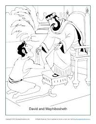 david and mephibosheth coloring page children u0027s bible coloring