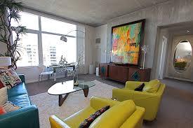 vintage modern living room contemporary mid century modern condominium vacation home modern