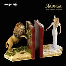 bookends lion chronicles of narnia weta bookends lion and white witch