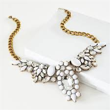 white necklace images White crystal collar necklace statement necklace with clear jpg