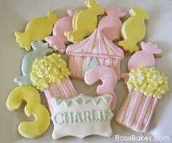 Pretty Bunting Flags Carnival Birthday Cookies Charlie U0027s 3rd Birthday