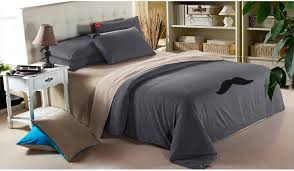 Mens Bed Set Classic Casual Bedroom With Mens Bedding Sets Mustache Bed Sheets