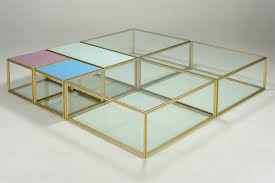low glass top coffee table low coffee table blts pt6x3 pt7x1 pt8x2 brass frame glass top golden