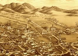 Santa Fe Map Santa Fe New Mexico In 1882 Bird U0027s Eye View Map Aerial