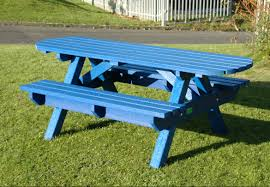 recycled plastic picnic tables wheelchair friendly extended top picnic table bench weatherproof