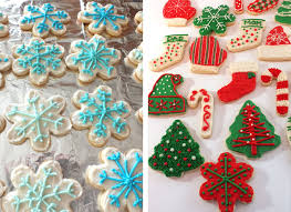 Decorated Christmas Tree Sugar Cookies by The Best Sugar Cookie Recipe Two Sisters Crafting