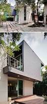 two storey house with a cantilevered bedroom in bangkok