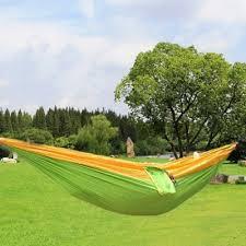 portable one person parachute nylon fabric hammock camping